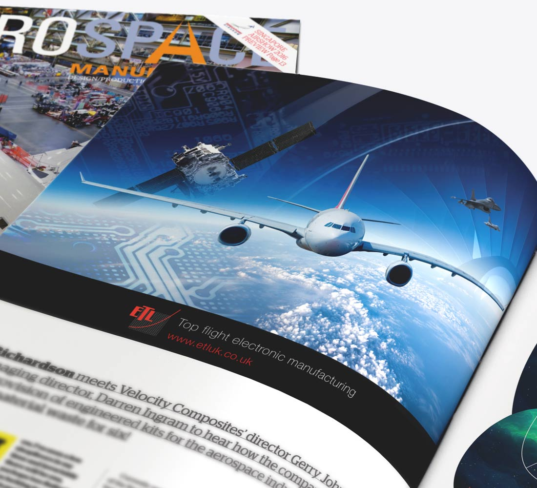 Our Portfolio - ETL Aerospace Advert
